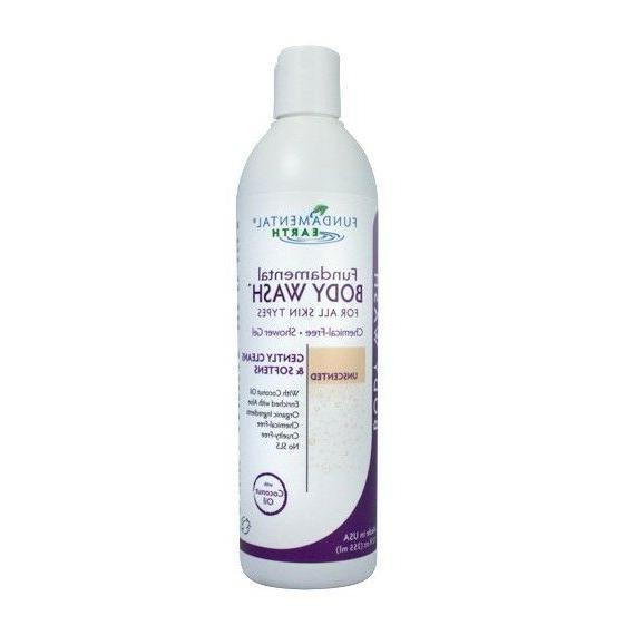 Fundamental Body Wash - Unscented Natural Shower Gel - 12 Ou