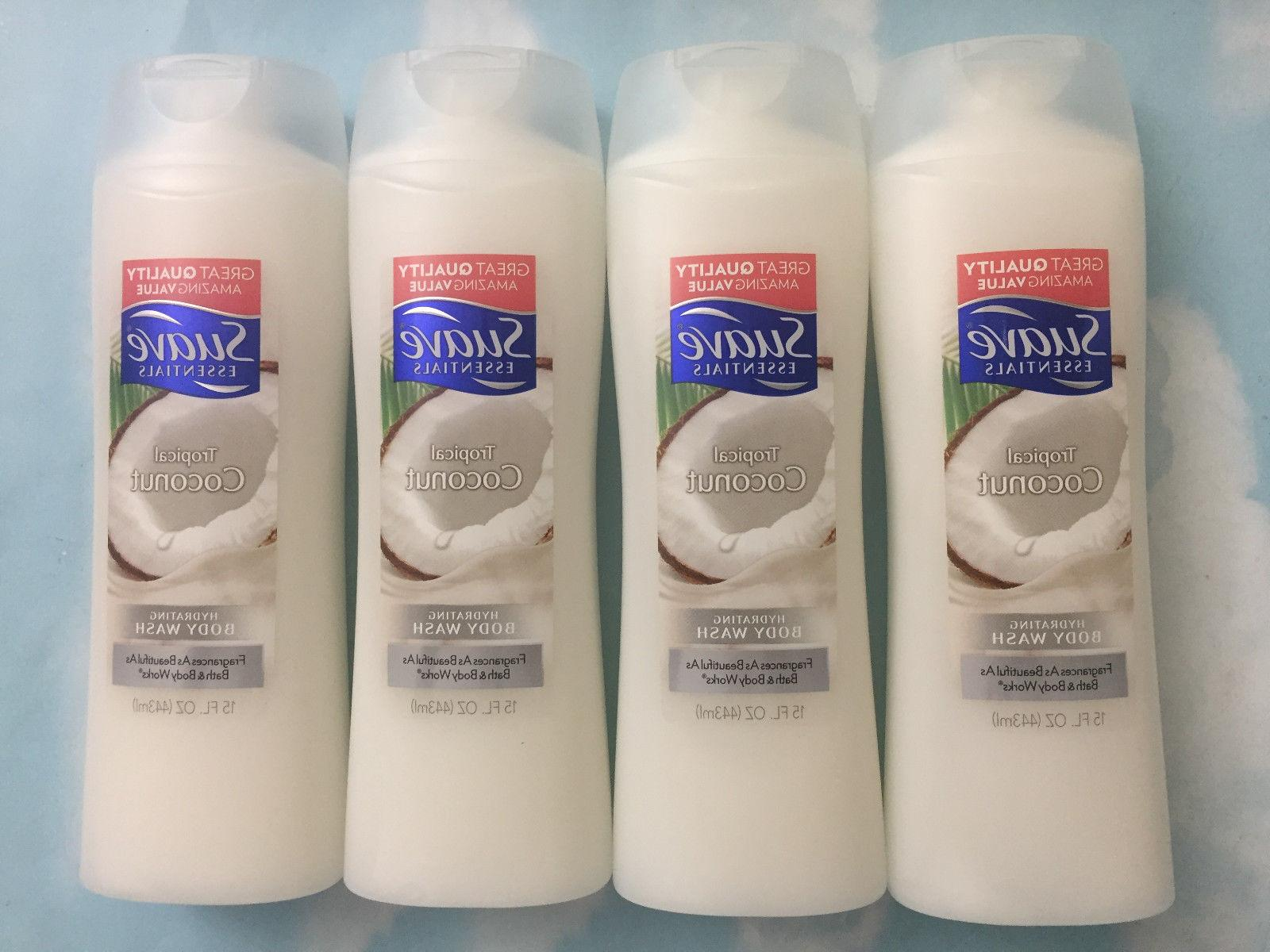 LOT SUAVE ESSENTIALS TROPICAL COCONUT HYDRATING BODY WASH