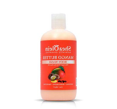 Mango Butter Body Wash with Argan Oil & Rice Bran Oil