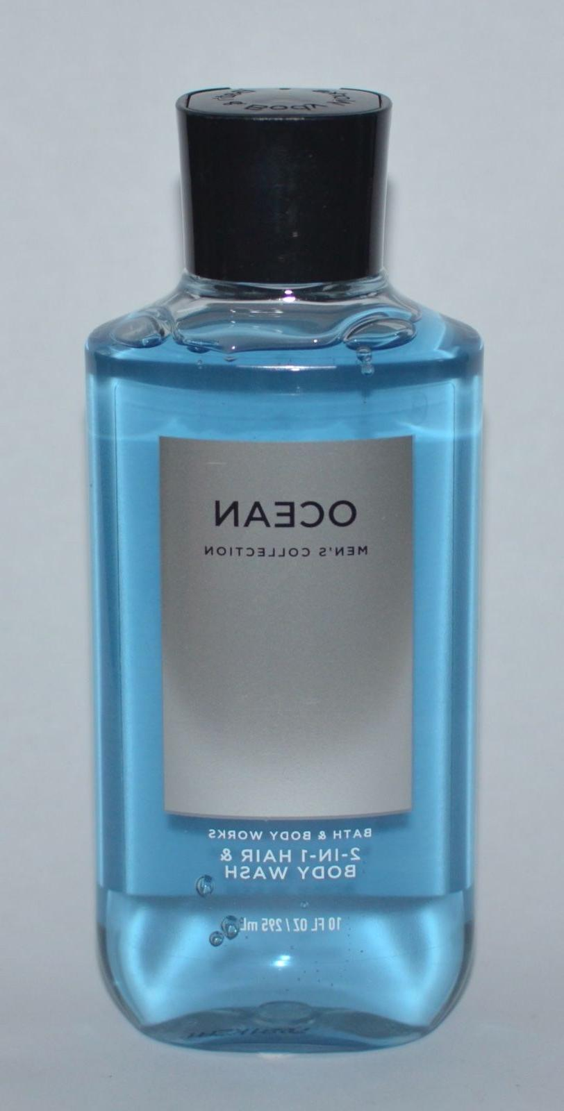 NEW BATH & BODY WORKS OCEAN MEN'S 2 IN 1 HAIR BODY WASH SHOW