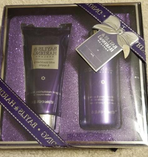 "New! Baylis & Harding Body Wash And Lotion Set ""Wild Blackbe"
