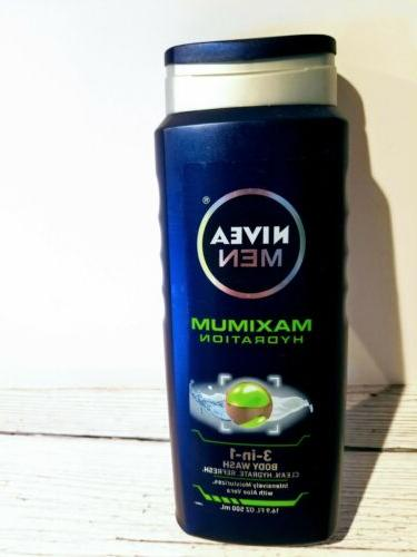 Nivea Men Maximum Hydration 3-in-1 Body Wash, 16.9 fl oz