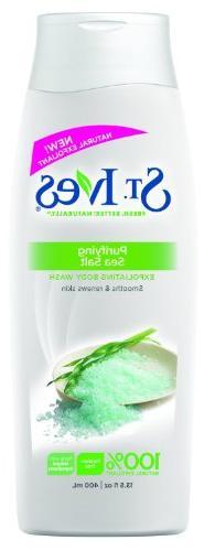 St Ives Body Wash 13.5oz Purifying Sea Salt
