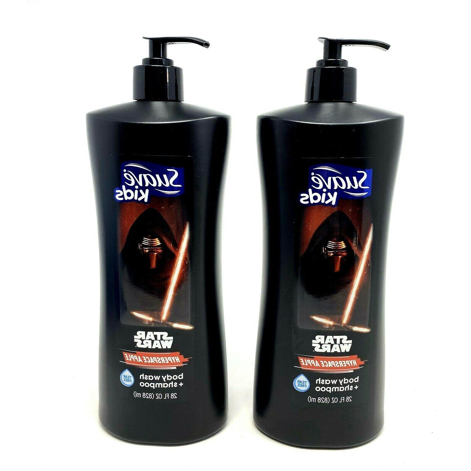 Suave Kids Star Wars Hyperspace Apple Body Wash & Shampoo ~