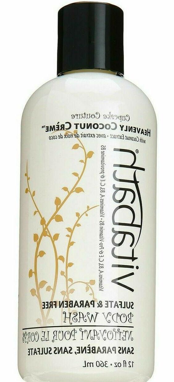 Vitabath Heavenly Coconut Creme Body Wash, 12 Ounce