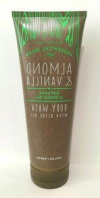 NEW Almond & Vanilla Essential Oils Bath and Body Works Set