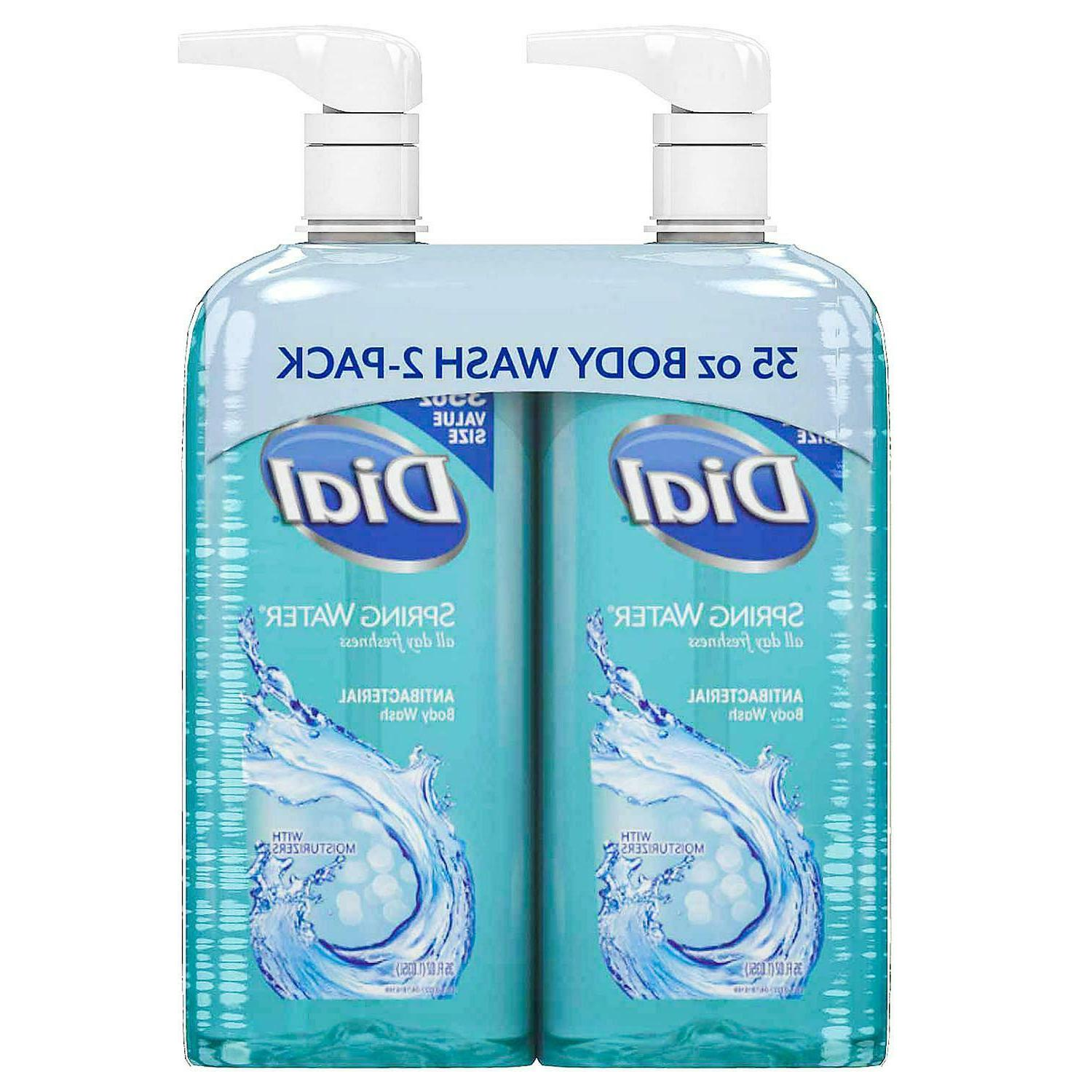 antibacterial body wash soap twin pack spring