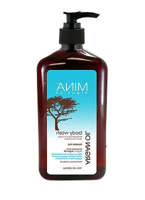 Mina Organics Argan Oil Body Wash 18 Fl oz.