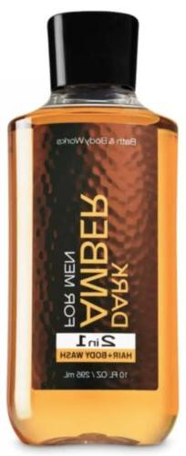 Bath and Body Works~Dark Amber for Men 2 in 1 Hair/Body Wash
