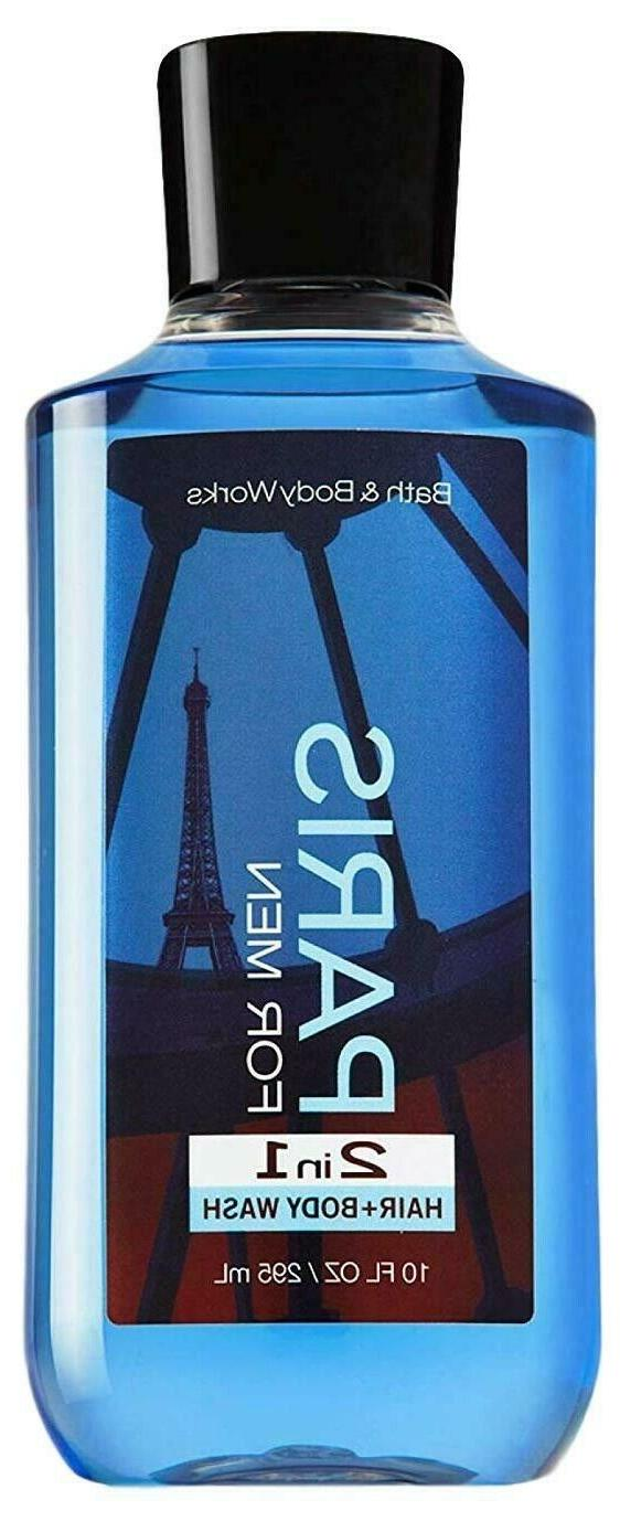 Bath & Body Works PARIS FOR MEN 2 IN 1 HAIR + Body Wash Show
