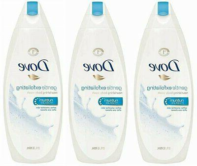 DOVE BODY WASH GENTLE EXFOLIATING 750 ML
