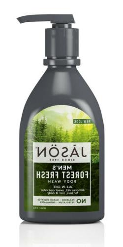 JASON NATURAL PRODUCTS, BODY WASH,MENS ALL IN ONE 30 FZ