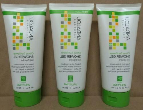 Shower Gel Citrus Verbena - Andalou Naturals - 8.5 oz - Gel