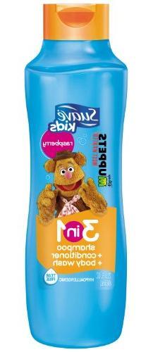 Suave Kids 3 in 1 Shampoo Conditioner and Body Wash, Razzle