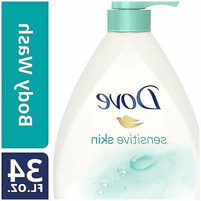 Dove Body Wash Pump Sensitive Skin 34 Fl