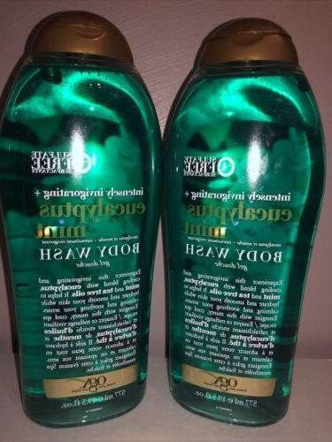 eucalyptus mint body wash lot of 2