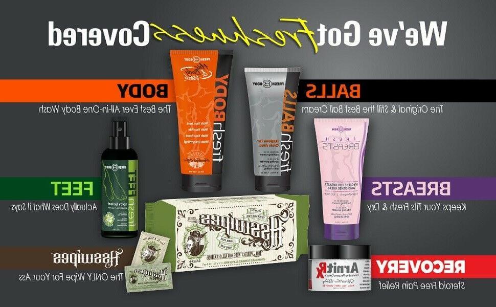 FRESH BODY Hair Body Wash oz Bottle! All-in-One Wash Detoxifying