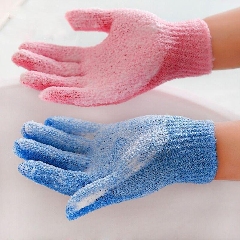 Dropshipping 4Pcs Shower Bath Gloves Exfoliating <font><b>Wa