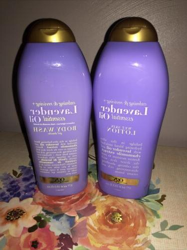 lavender oil wet skin lotion and body