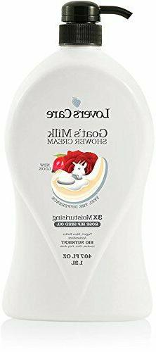 Lover's Care Goats Milk Shower Cream Rosehip Seed Oil Body W