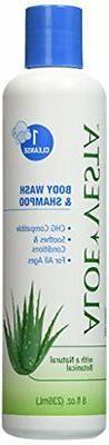 Natural Aloe Vera Body Wash + Shampoo  - 100% Organic - for