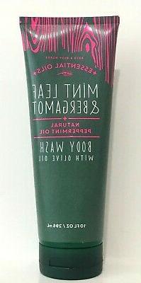 Bath & Body Works Oilve Oil Body Wash Mint Leaf & Bergamot