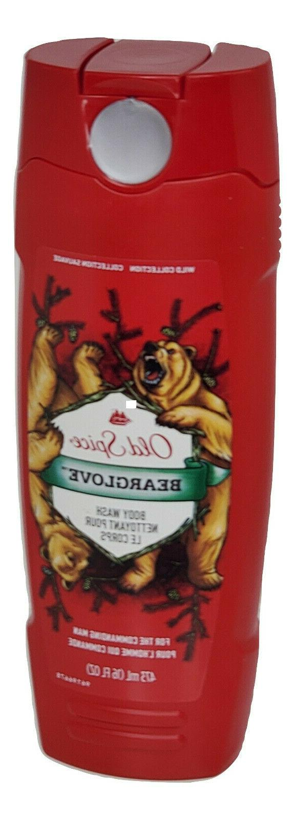 Old Spice Wild Collection Bodywash, Bearglove 16 oz