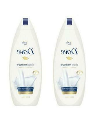 Pack 2 Dove Body Wash Deep Moisture Pump For Dry Skin Sulfat