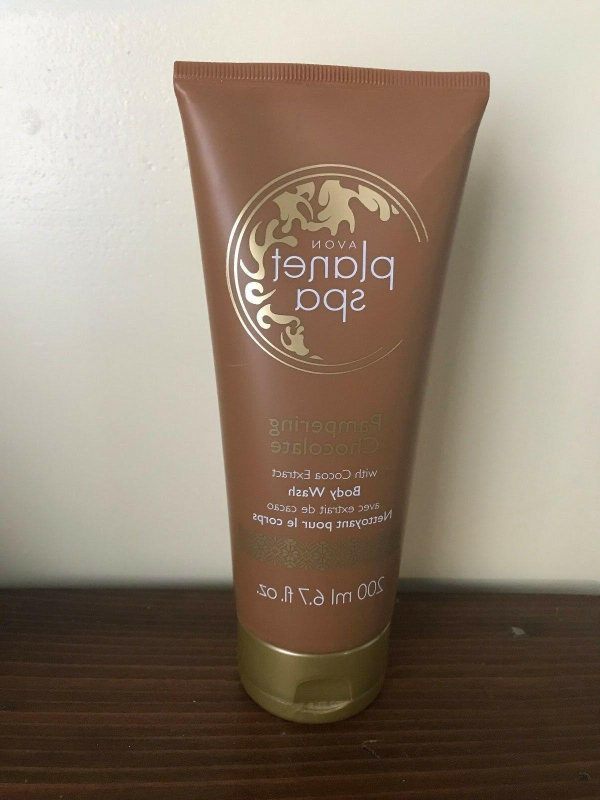 Avon Planet Spa Pampering Chocolate Body Wash & Face Mask wi