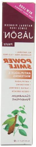 JASON Cinnamon Mint PowerSmile Whitening Toothpaste, 6 Ounce