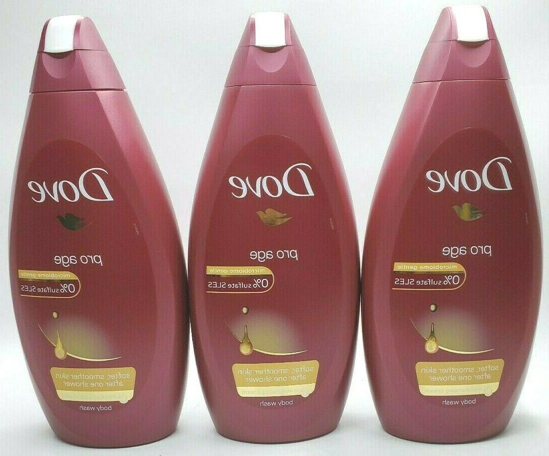 pro age body wash 500ml 3 pack