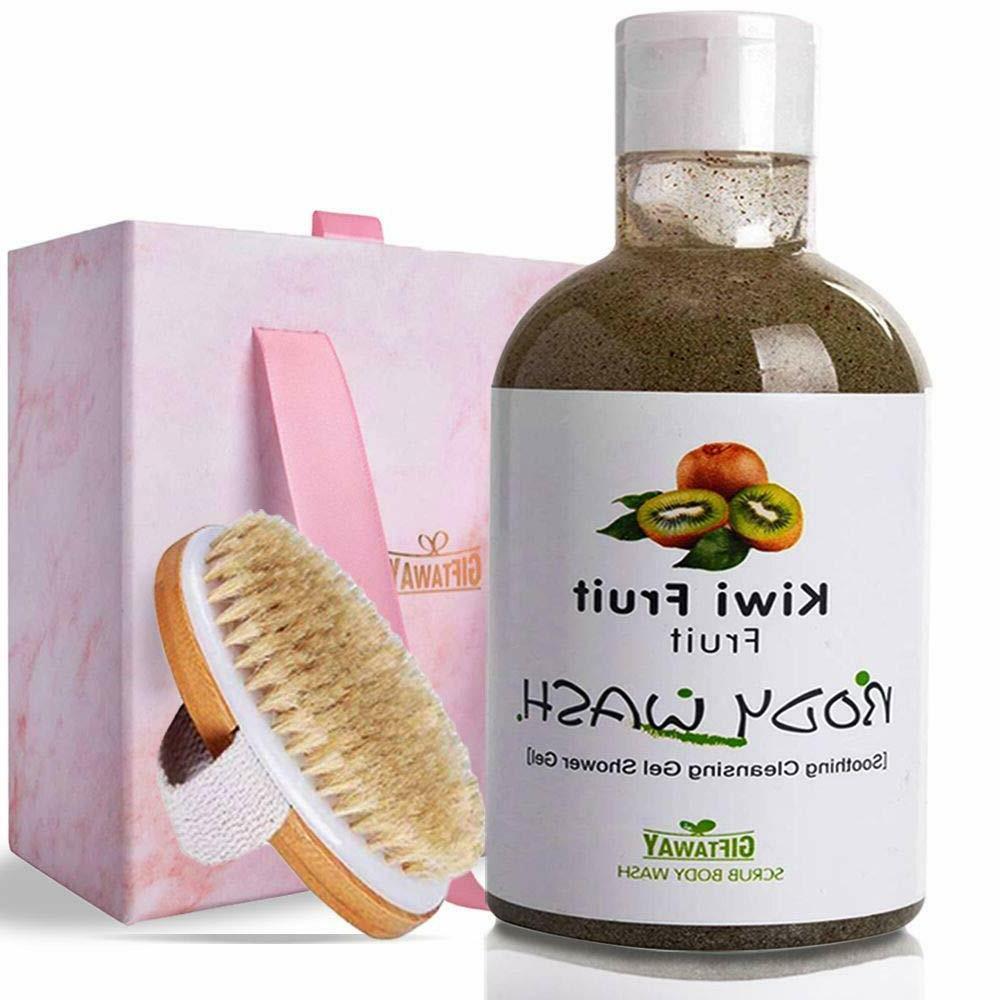 scrub body wash shower gel w brush