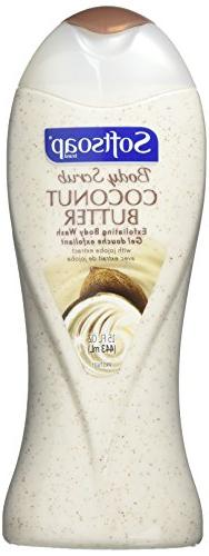 2 pack of Softsoap Body Scrub Coconut Butter Exfoliating Bod