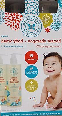 The Honest Co. Shampoo & Body Wash, Value Pack 2x 17 fl. oz