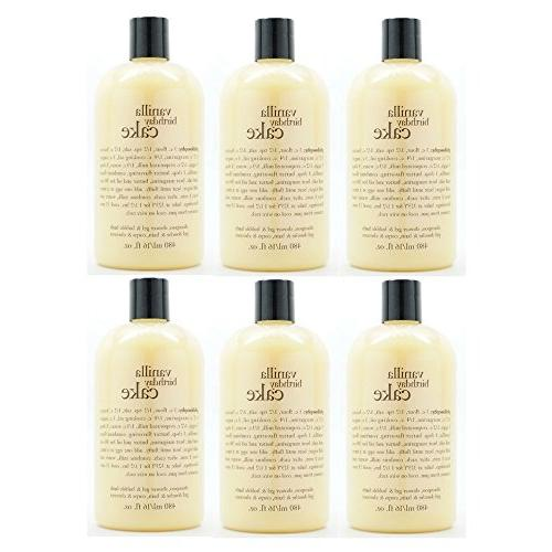 Philosophy Vanilla Birthday Cake Shampoo Shower Gel Bubble Bath 16