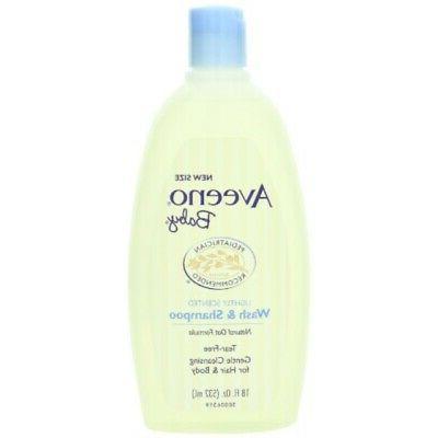 Aveeno Baby Wash & Shampoo, 18-Fluid Ounces Bottles