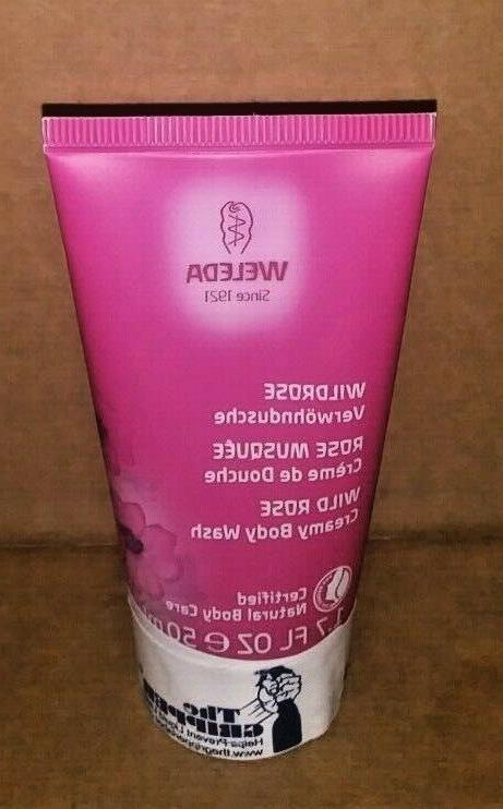 wild rose creamy body wash natural cleanser