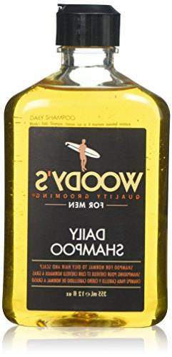 Woody's Daily Shampoo for Men, 12 Ounce