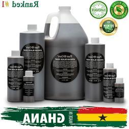 Liquid African Black Soap Raw 100% Pure Organic Natural Bath