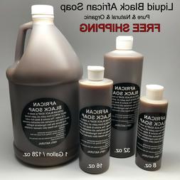 Liquid Raw African Black Soap - 100% Pure & Natural Organic