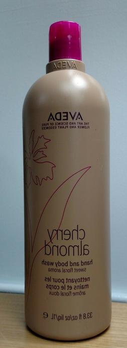 Aveda Liter CHERRY ALMOND Hand & Body Wash 33.8 oz NEW