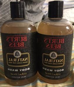 Lot of 2 Burt's Bees Body Wash Natural Skin Care For Men 1