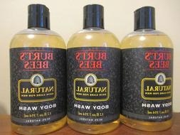 Lot of 3 Burt's Bees Body Wash For Men Natural Skin Care F