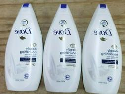 LOT OF 3-DOVE DEEPLY  NOURISHING BODY WASH 500ml Each