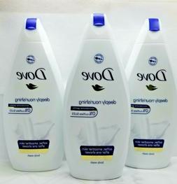 lot of 3 deeply nourishing body wash