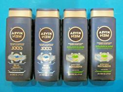 Lot of 4 Nivea Men Refreshing 3-in-1 Body Wash / Shower / Sh