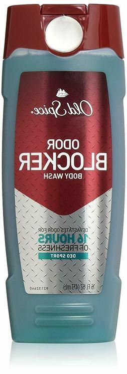 Old Spice M-BB-1871 Odor Blocker Body Wash, Deo Sport - 16 o