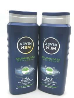 NIVEA Men - MAXIMUM Hydration 3-in-1 Body Wash -16.9 oz EA -
