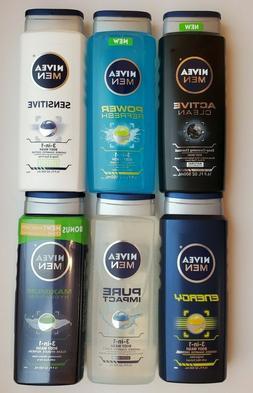 Men's Nivea Body Wash  16.9 oz. bottles
