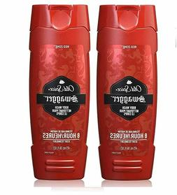 Old Spice Men's Swagger Red Zone Body Wash TWO pack 16 oz Ne